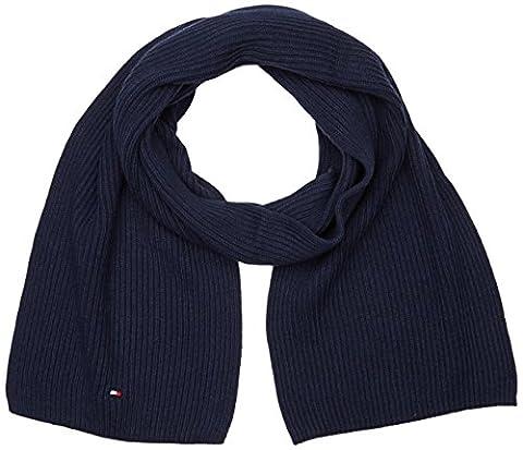 Tommy Hilfiger Herren Schal Pima Cotton Cashmere Scarf Blau (Sky Captain Heather 462), One size (Herstellergröße: (Sky Heather)