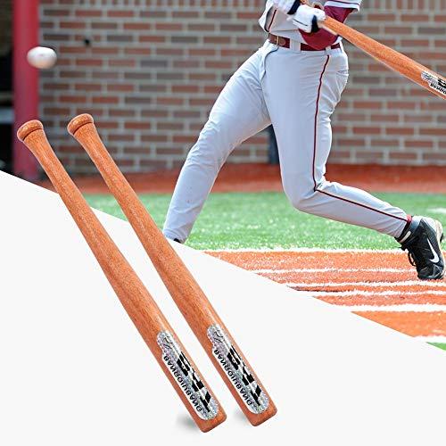 Nannday Mazza da Baseball, Legno, Colore Naturale, autoprotezione 64,5 cm