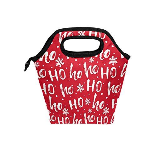eihnachten Lunch Bag Handtasche Lunchbox Frischhaltedose Gourmet Bento Coole Tote Cooler Warm Tasche für Reisen Picknick Schule Büro ()