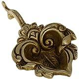 Brass, Handmade Oil Lamp, Big Leaf Shaped Diya Lamp, 5.75 inch