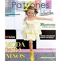 Revista Patrones Infantiles nº 12. Patrones de costura infantil, Moda primavera-verano. 30 modelos de patrones niña, niño, con tutoriales paso a paso en vídeo (Youtube).