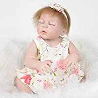 TUJHGF Rebirth Baby Baby Simulation Silicone All Plastic Newborn Baby Child Toy Birthday Gift 55CM,A