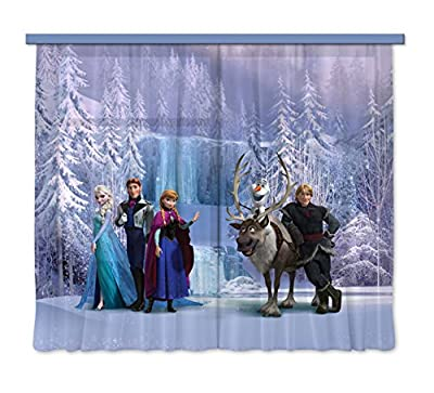 """Disney Frozen All Characters"" Children's Room Curtain, Multi-Colour, 180 x 160 cm By AG Design"