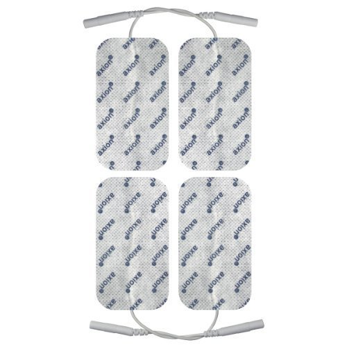 Elektroden / Pads, 4 Stück, 100x50mm, selbstklebend, für TENS - EMS - Reizstromgerät mit 2mm-Anschluss