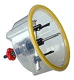 Falke Kreisschneider FKS-X (mit Schutzhaube) - Universal für Holz, Kunststoff, Gipskarton und mehr | Durchmesser stufenlos einstellbar (48 - 150 mm)