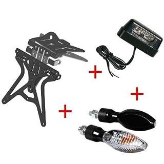 Kit für Motorrad Kennzeichenhalter UNIVERSAL + 1Paar Blinker + Kennzeichenbeleuchtung Lampa Gilera SMT 502004–04