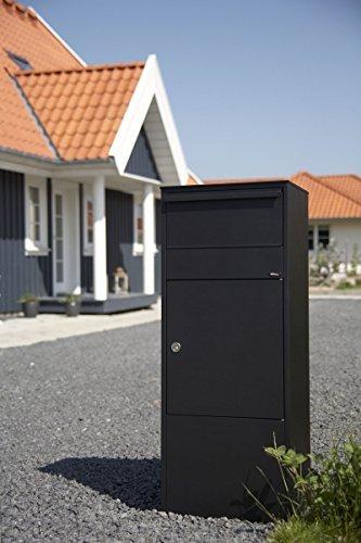 Paketbriefkasten Allux 800 in schwarz