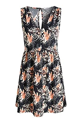 edc by Esprit Women's Vn Sl Aop Dr Sleeveless Dress