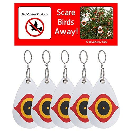Kobwa - Repelente de pájaros con ojos de búho reflectantes, repelente manual de animales, para pájaros disuasorios, plagas y animales, repelente de escarchas, al instante y de forma segura, conduce de forma segura a cada pájaro