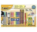 BIC Stylo À Bille Crayon Écriture École Étudiants Couleurs Set 32 Pièces