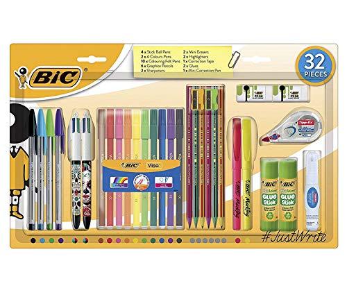 Bic Stationärer Kugelschreiber Bleistift Schreiben Schulschüler Farben Set 32 Stück