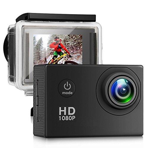 """LeBenDehen Action Kamera, Ultra HD 13mp wasserdicht sport kamera, 100 grad weitwinkelobjektiv, 2"""" LCD bildschirm, 98ft unterwasser DV camcorder mit outdoor zubehör (schwarz)"""
