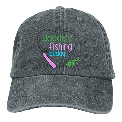 Männer/Frauen Daddys Angeln Buddy Denim Stoff Baseball Cap Einstellbare Trucker Cap one Size Adult Design Printing
