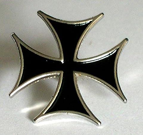 En métal émaillé Motif Scooter Noir Biker Casquette de Malte-croix de fer