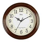 HANSHI grande sólida Muro de madera reloj de pared salón Modern Reloj Silenciar Fácil Fácil cuarzo reloj con números grandes Árabes Y fina textura HW13, HW13 #B