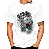 Camiseta Hombres, Manadlian Hombres más tamaño Impresas Tops Blusa Camisetas Manga Corta de algodón Manga Corta T-Shirt S-4XL (CN XXL, B)