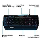 Logitech G910 Gaming Mechanische Tastatur mit RGB Orion Spectrum (Qwertz, deutsches Layout) schwarz - 2