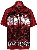 LA LEELA | Funky Hawaiihemd | Herren | Kurzarm | Front-Tasche | Hawaii-Print | Strand Palmen Meer | XS - 7XL|
