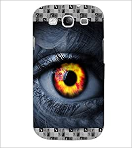 PrintDhaba Eye D-3615 Back Case Cover for SAMSUNG GALAXY S3 (Multi-Coloured)