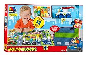 Molto Blocks Set + 1 Coche + Tapiz