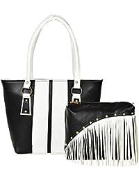 Kixx Women's Pu Leather Handbag And Sling Bag Combo(Multicolor-3K049)