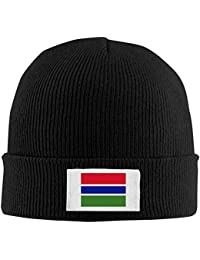 VTXWL Mens Womens Knit Beanie Hats Flag The Gambia Warm Winter Skull Caps Fashion Unisex