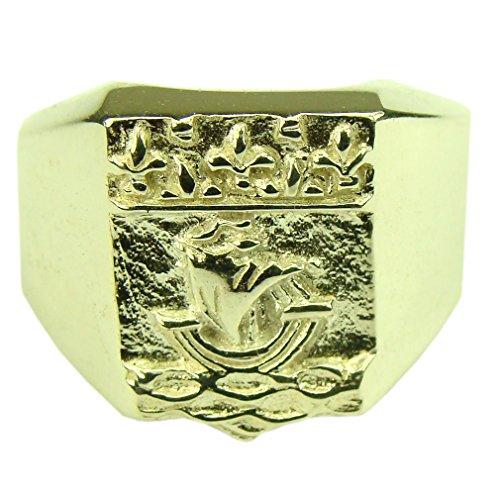 Souvenirs de France - Chevalière Armoiries de Paris - Argent Plein, Plaqué Or ou Or Plein 18-Carats