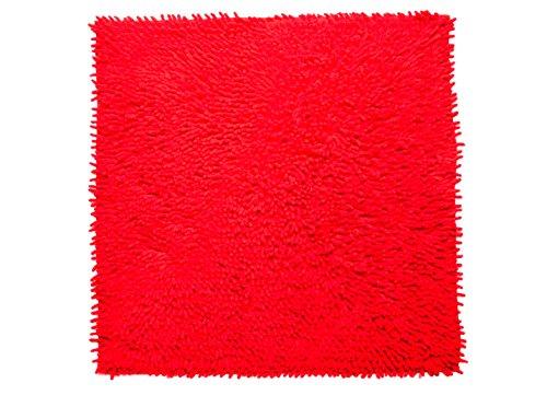 Casilin Nilo Tapis de bain Coton Rouge 60 x 60 cm