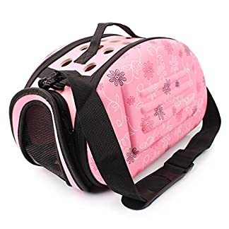 GossipBoy EVA Folding Washable Outdoor Pet Crossbody Handbag Tote for Dog Cat Comfort Portable Breathable Travel Medium… 16
