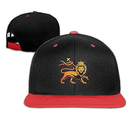 Zcfhike Rasta Lion Judah Adjustable Unisex Hip Hop Baseball Hat Stylish Trucker Hats for Toddler One Size C1