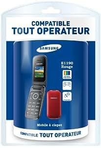 Samsung - Samsung E1190 Rouge tout opérateur