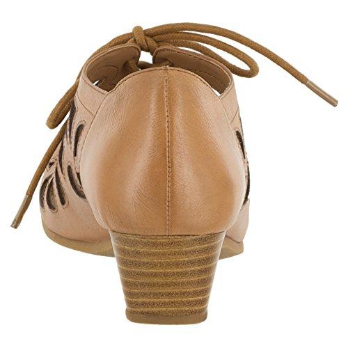 Vita Leder Keilabsätze Bella Pixie Camel Sandale Oq48xY