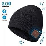 Bonnet Bluetooth pour Hommes Femmes - Music Bonnet Bluetooth Chapeau avec écouteurs Stéréo sans Fil, Doux Chaleureux Bluetooth Chapeau d'hiver, Rechargeable Lavable Convient à Sports