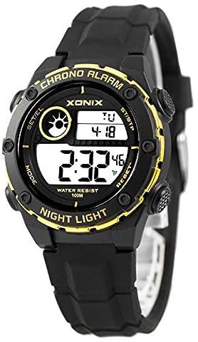 Unisexe Xonix montre de sport, à quartz, chronomètre avec 100Split tours, Wr100m, Xnv52fc86C/7