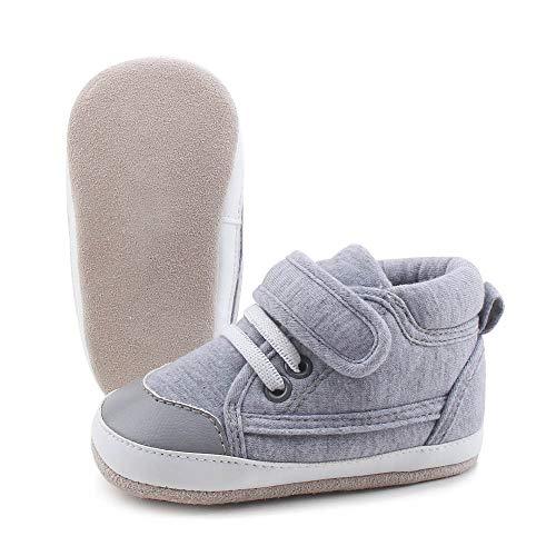 41087bdd1ab8e6 OOSAKU Sneakers Alte per Bambini Suola in Morbida Pelle Scamosciata Scarpe  da Bambino Prewalker Neonato