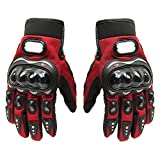 BRAUTO MotorradHandschuhe, Sommer Motorrad Handschuhe, Rot, Größe XL