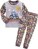Vaenait baby Kinder Jungen Nachtwaesche Schlafanzug-Top Bottom 2 Stueck Set Funny Farmfarm S
