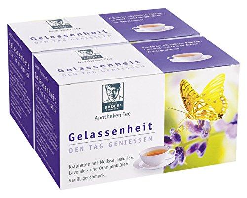 Apotheken-Tee Gelassenheit Lavendel Baldrian Melisse. Den Tag genießen, in der Nacht gut schlafen. Vorteilspackung 2 x 20 Btl (80g).Pharmazentralnummer: 09738486 (Tee Mens Nacht)