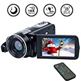Camcorder Video Camera Full HD 1080p 18X Zoom Digital Camcorder with Pause And
