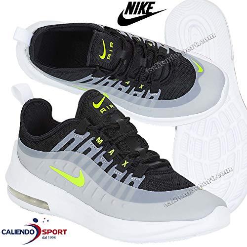 Nike AIR MAX AXIS Grade School Sneaker Kind Grau/Gelb/Schwarz - 36 1/2 - Sneaker Low