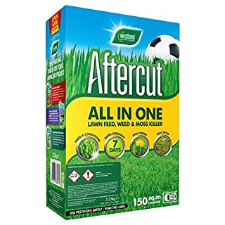 Aftercut All-in-One Lawn Feed, Weed and Moss Killer, 150 sq m, 5.25 kg