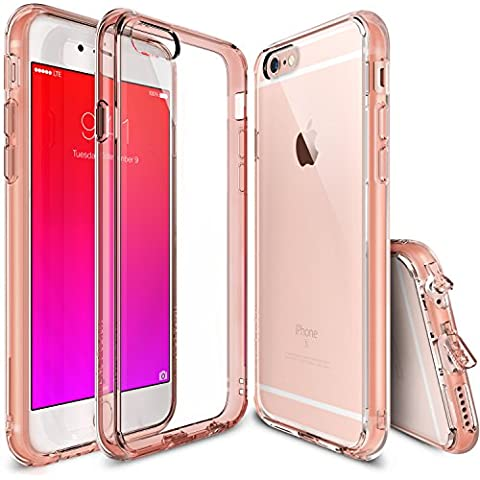 Funda iPhone 6S Plus, Ringke FUSION [GRATIS Protector de pantalla][ROSE GOLD CRYSTAL] Cristal Claro Choque Absorción TPU Parachoques Protección gota prima Claro Trasera Dura Funda para Apple iPhone 6S Plus / 6 Plus