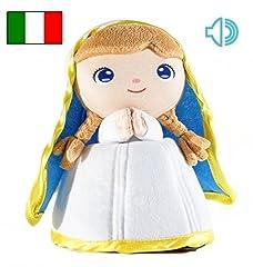 Idea Regalo - Jesusito de mi vida Peluche Vergine Maria 22 cm 3 Preghiere Italiano. (Ref. 2002IT)