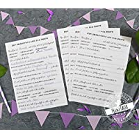 Gästebuch-Karten zum Geburtstag mit witzige lustige Fragen an Gäste zum Ausfüllen, Geschenk-Idee