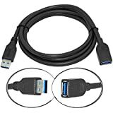 4.5 Feet SuperSpeed USB 3.0 Type A Male To Female Extension Cable Black