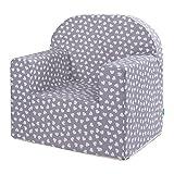 LULANDO Classic Kindersessel Babysessel Kindercouch Mini Sessel Kindermöbel für Spielzimmer und Kinderzimmer. Farbe: Hearts Grey