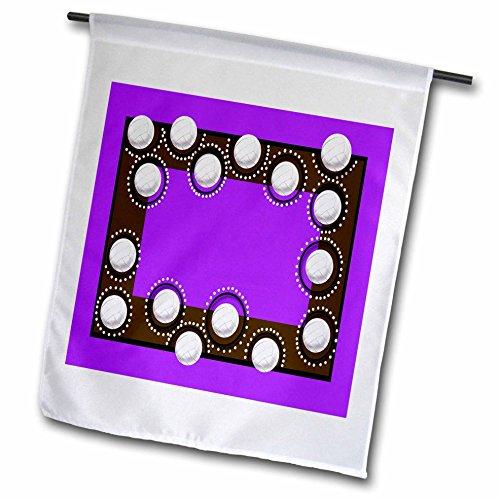 3dRose FL_108438_1 Volleybälle, Violett, 30,5 x 45,7 cm