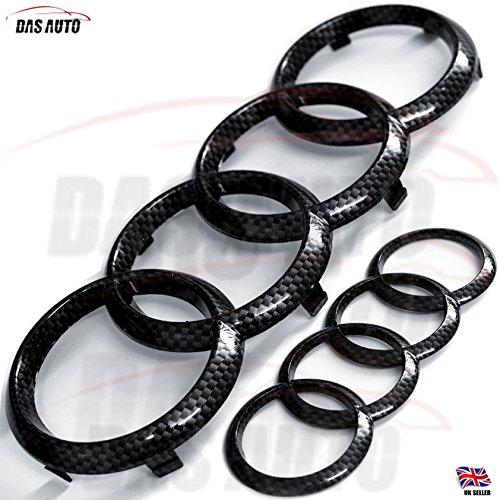 Glänzendes Ringe-Emblem aus Karbonfaser  für den Kühlergrill vorne und die Auto-Rückseite von Das Automotive