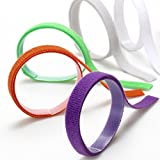 12 Stück ID Welpenhalsbänder für Züchter Halsband Kitty mit Klett Nylon Verstellbar für Kleine Haustiere 12 Farbe 33,5cm
