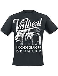LaMAGLIERIA Camiseta de Tirantes Hombre Volbeat Only Text - 100% Algodòn tK77n